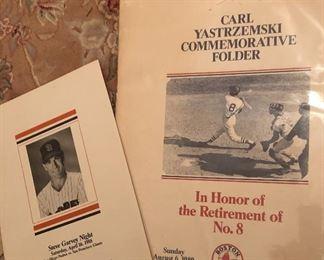 Carl Yastrzemski & Steve Garvey Retirement Commerative Programs