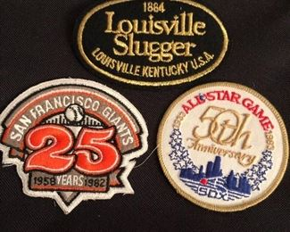 Louisville Slugger, San Francisco Giants 25th & 1983 All-Star Game 50th Anniversary Patches