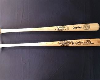 Signed Bats— Johnny Bench & Gaylord Perry