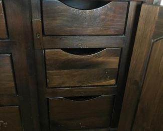 Drawers inside dresser