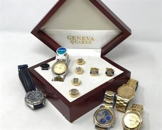 103 Mens' Watches and Geneva Collection https://ctbids.com/#!/description/share/288518