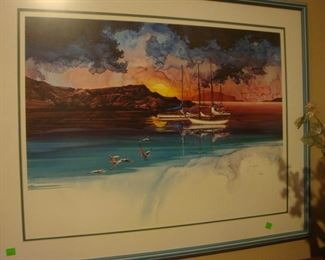 Framed signed prints by artist Michael Atkinson