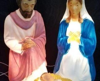 Vintage Lighted Form Molds Jesus Mary Joseph