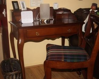 Ladies writing desk and chair.