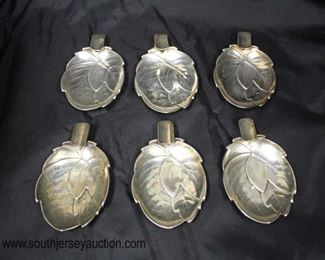 Set of 6 German Silver Leaf Ashtrays  Auction Estimate $50-$100 – Located Glassware