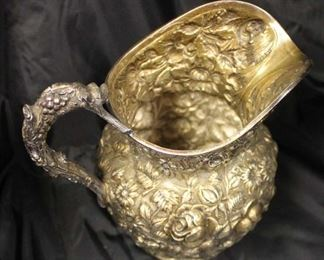 "BEAUTIFUL ""Stieff"" Sterling Pitcher approximately 10"" Height and weighs approximately 27.76 ozt  Auction Estimate $200-$400 – Located Glassware"