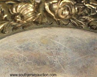 """Stieff"" Sterling 10"" Plate approximately 12.62 ozt  Auction Estimate $100-$200 – Located Glassware"