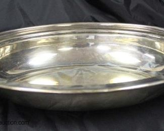 Sterling Vegetable Bowl approximately 14.67 ozt  Auction Estimate $100-$200 – Located Glassware