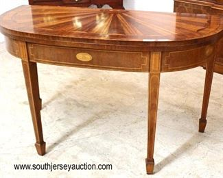 "SUPER CLEAN Mahogany Inlaid ""Baker Furniture Charleston Collection"" Oversized Flip Top Game Table with Sunburst 2 Tone Top  Auction Estimate $1000-$2000 – Located Inside"