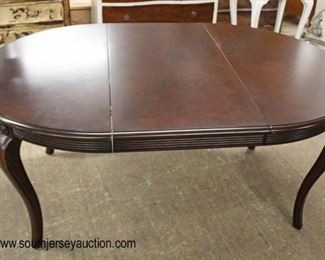 "Contemporary ""Bernhardt Furniture"" 7 Piece Mahogany Dining Room Table and 6 Chairs  Auction Estimate $200-$400 – Located Inside"