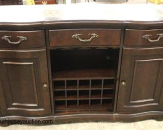"NICE ""Bernhardt Furniture"" Contemporary Marble Top Mahogany Wine Bar  Auction Estimate $200-$400 – Located Inside"