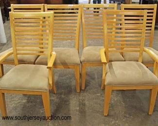 Contemporary 7 Piece Maple Dining Room Table and 6 Chairs  Auction Estimate $200-$400 – Located Inside