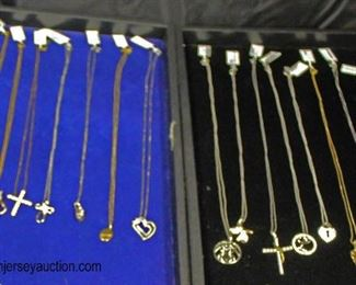 Large Selection of Marked 925 Silver Necklaces, Earrings, and Charms  Auction Estimate $30-$80 – Located Glassware