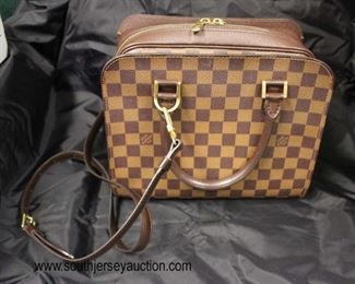 "Authentic ""Louis Vuitton"" Limited Edition Brown Canvas Damier Ebene VI 0061 Purse  Auction Estimate $800-$1500 – Located Glassware"