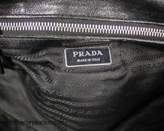 "Authentic ""Prada"" Black Leather and Canvas Purse with Dust Bag  Auction Estimate $200-$600 – Located Glassware"