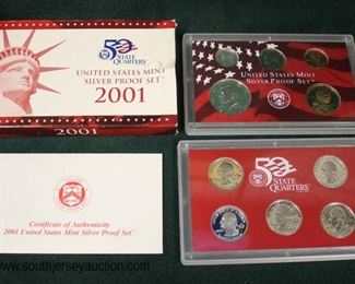 50 State Quarters United States Mint Silver Proof Set 2001  Auction Estimate $10-$30 – Located Glassware