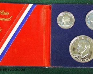 1776-1976 United States Bicentennial Silver Proof Set  Auction Estimate $20-$50 – Located Glassware