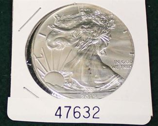 United States 2019 Silver American Eagle Dollar  Auction Estimate $20-$50 – Located Glassware
