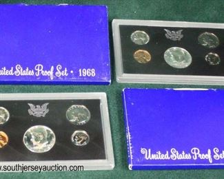 United States Proof Set (2) 1968  Auction Estimate $5-$10 each – Located Glassware
