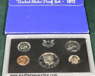 United States Proof Set 1972  Auction Estimate $5-$10 – Located Glassware