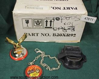 """Harley Davidson"" Pocket Watch with Holder and Paperweight with Box  Auction Estimate $20-$50 – Located Glassware"