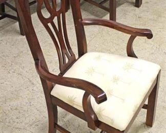 BEAUTIFUL Mahogany Double Pedestal Banded and Inlaid Dining Room Table with 12 SOLID Mahogany Carved Chippendale Style Dining Room Chairs  Auction Estimate $1000-$2000 – Located Inside