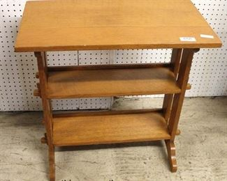 "ANTIQUE ""Roycroft Furniture"" Mission Oak 3 Shelf Table, East Aurora, NY  Auction Estimate $200-$400 – Located Inside"