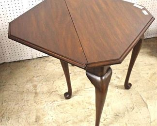 "SOLID Mahogany ""Henkel Harris Furniture"" Queen Anne Drop Side Napkin Table  Auction Estimate $200-$400 – Located Inside"