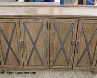 NEW Rustic Style Contemporary 4 Door Credenza  Auction Estimate $200-$400 – Located Inside