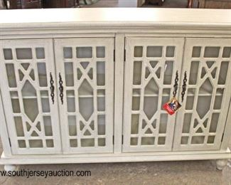 NEW Contemporary Decorator 4 Door Credenza  Auction Estimate $200-$400 – Located Inside
