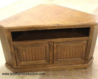 "NEW ""Coconut Creek"" Contemporary 2 Door CORNER Television Stand  Auction Estimate $100-$300 – Located Inside"