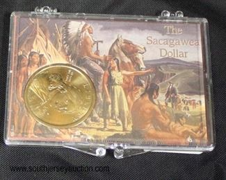 The Sacagawea Dollar in Case  Auction Estimate $5-$10 – Located Glassware