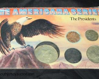 """The Americana Series"" The Presidents Coins  Auction Estimate $5-$10 – Located Glassware"