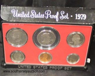 United States 1979 Proof Set  Auction Estimate $5-$10 – Located Glassware