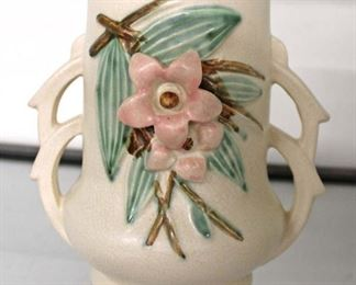"""McCoy"" Pottery Double Handle Vase  Auction Estimate $20-$50 – Located Glassware"