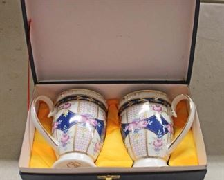 Hand Painted Porzellan Fabrik SMCS Tirschenrueth Bavaria Germany Cups in Box  Auction Estimate $20-$50 – Located Glassware