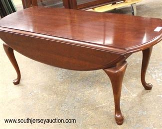 "SOLID Cherry ""Pennsylvania House Furniture"" Queen Anne Drop Side Coffee Table  Auction Estimate $50-$100 – Located Inside"