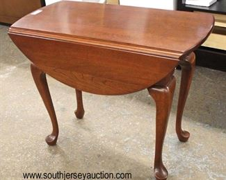 "SOLID Cherry ""Pennsylvania House Furniture"" Queen Anne Drop Side Lamp Table  Auction Estimate $50-$100 – Located Inside"