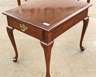 "SOLID Cherry ""Pennsylvania House Furniture"" Queen Anne One Drawer Lamp Table  Auction Estimate $50-$100 – Located Inside"