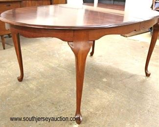 "BEAUTIFUL Solid Cherry ""Pennsylvania House Furniture"" Queen Anne Dining Room Set with 8 Chairs and Table has 3 Skirted Leaves  Auction Estimate $300-$600 – Located Inside"