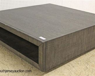 NEW Large Square Contemporary Coffee Table  Auction Estimate $100-$300 – Located Inside
