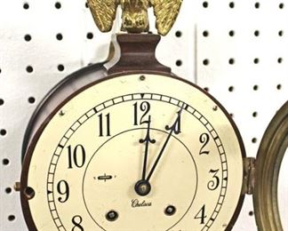 """Chelsea"" Banjo Clock with Brass Eagle Finial  Auction Estimate $100-$300 – Located Inside"