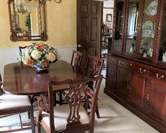 Gorgeous Dining Room Suite and China Cabinet still Available plus Beautiuful Wall Mirror!