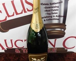 Large Perrier Jouet Champagne Store Display Bottle