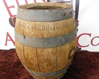 Old Blatz Brewing Company Wooden Barrel