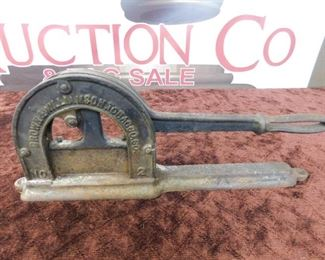 Old Brown and Williamson Tobacco Company Cutter