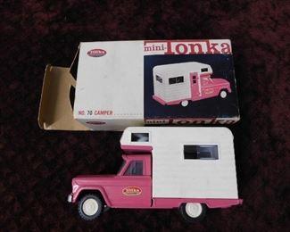 Pink Mini-Tonka No. 70 Camper in Original Box