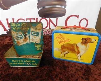 Kool Cigarette Display/Old Magic of Lassie Lunchbox