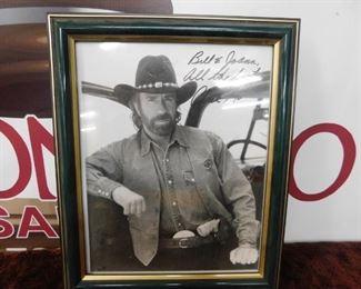 Chuck Norris Autographed Photograph