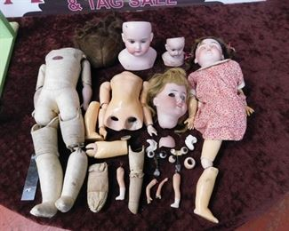 Early Porcelain Doll Parts